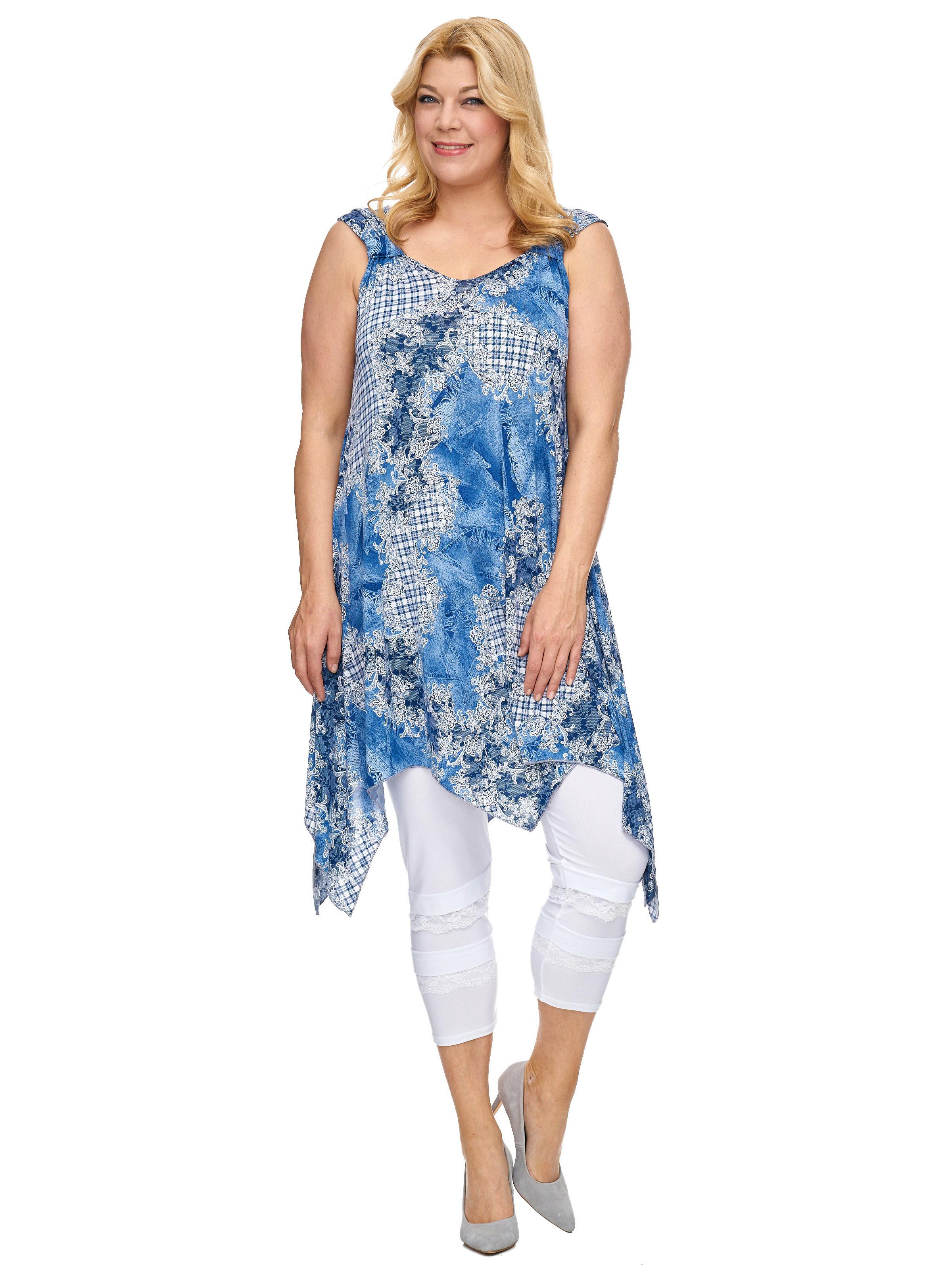 cf7a2d98ed45 Details zu Damen Tunika Sommerkleid Kleid Partykleid blau Cocktailkleid  Lang Strandkleid